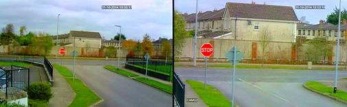 Разница в углах обзора камер